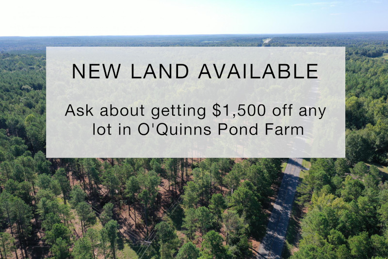 Land deal for new plots - O'Quinns Pond Farm