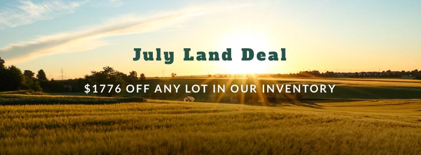 land deal, owner-financed land