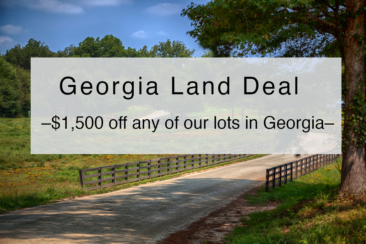 Take $1,500 off any lot in georgia