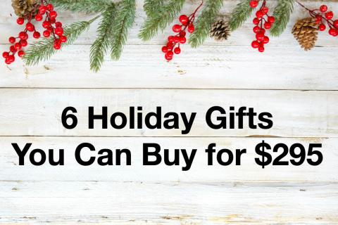 6 Holiday Gifts You Can Buy for $295