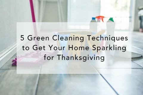 5 Green Cleaning Techniques to Get Your Home Sparkling for Thanksgiving